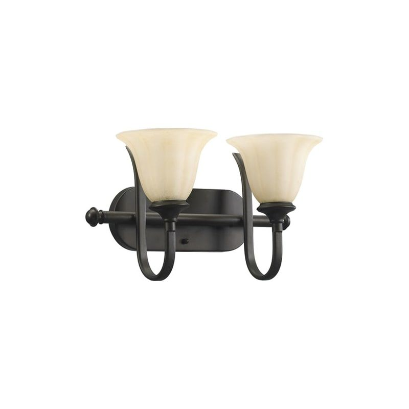 Photo of Quorum International 5194-2 Randolph 2 light Bathroom lamp Oil lamp Interior lighting made of bronze Vanity Light bathroom lamps
