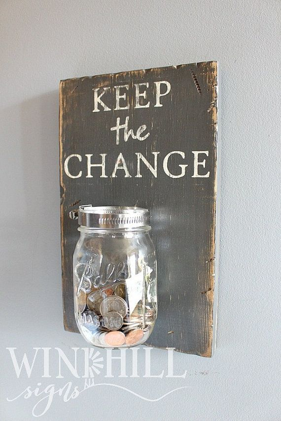 Keep The Change Laundry Sign Rustic By WindhillSigns