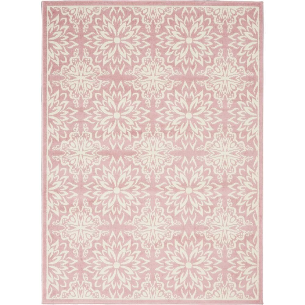 Nourison Jubilant Ivory Pink 5 Ft X 7 Ft Moroccan Farmhouse Area Rug 478559 The Home Depot Pink Area Rug Area Rugs Farmhouse Area Rugs