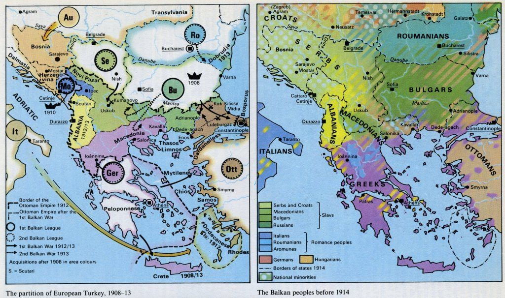 Balkan peoples nationalities and partition of European Turkey