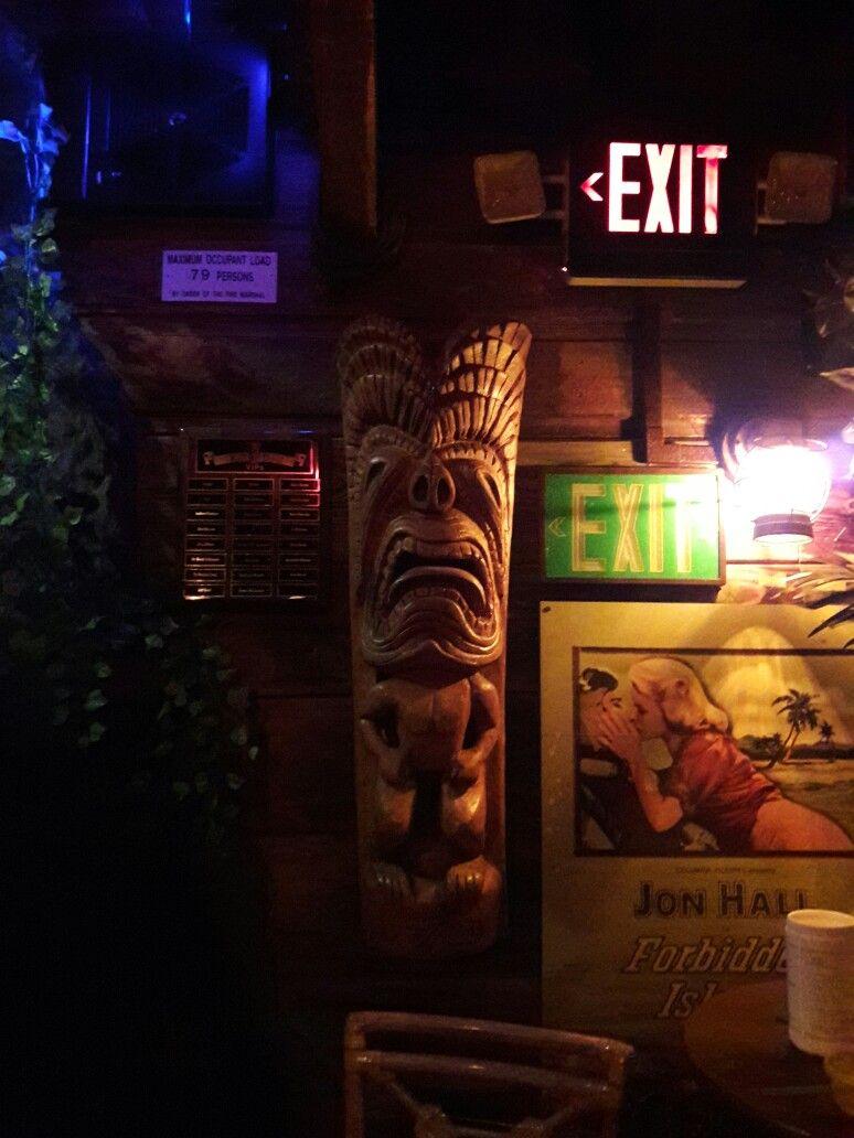 Forbidden Island Tiki Lounge wood carved statue | Tiki Bar ...