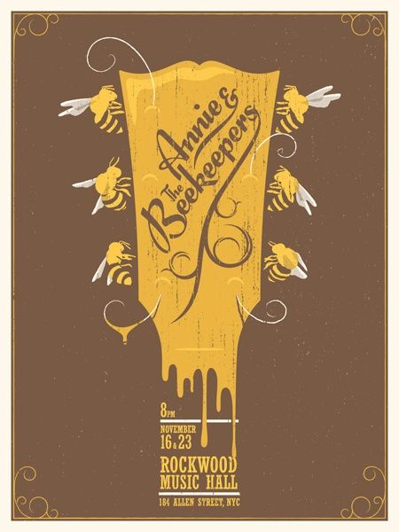 Annie The Beekeepers Gig Poster Design
