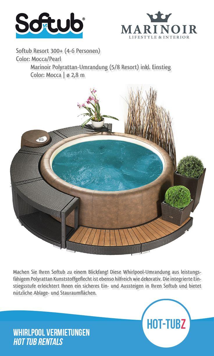 Machen Sie Ihren #Softub Zu Einem# Blickfang! Diese #Whirlpool Umrandung  Aus Leistungsfähigem Polyrattan Kunststoffgeflecht Ist Ebenso Hilfreich ...