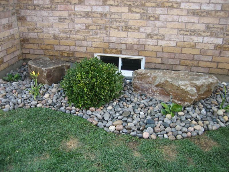 rock flower bed wonderful living