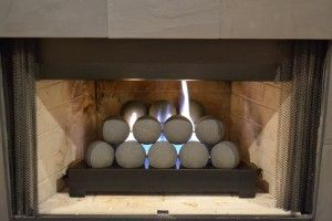 Ventless Gas Fireplace Alternative Fire Ball Design Gas