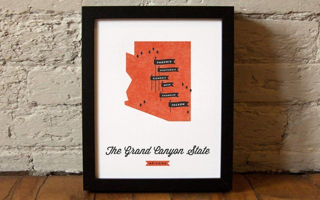 Fancy - These Are Things / Arizona State Map