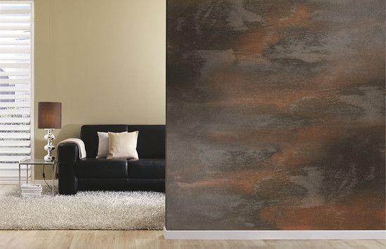 Der Neuste Kreativeffekt Rostoptik Effektfarbe Tapete Wohnzimmer Wohnzimmer Inspiration
