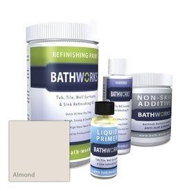Bathworks Kit Interior High Gloss Kitchen And Bath Tintable Almond Oil Base Paint Actual Net Contents 22 Fl Oz Shower Search Bathtub Refinishing Kit Diy Bathtub Tub Refinishing