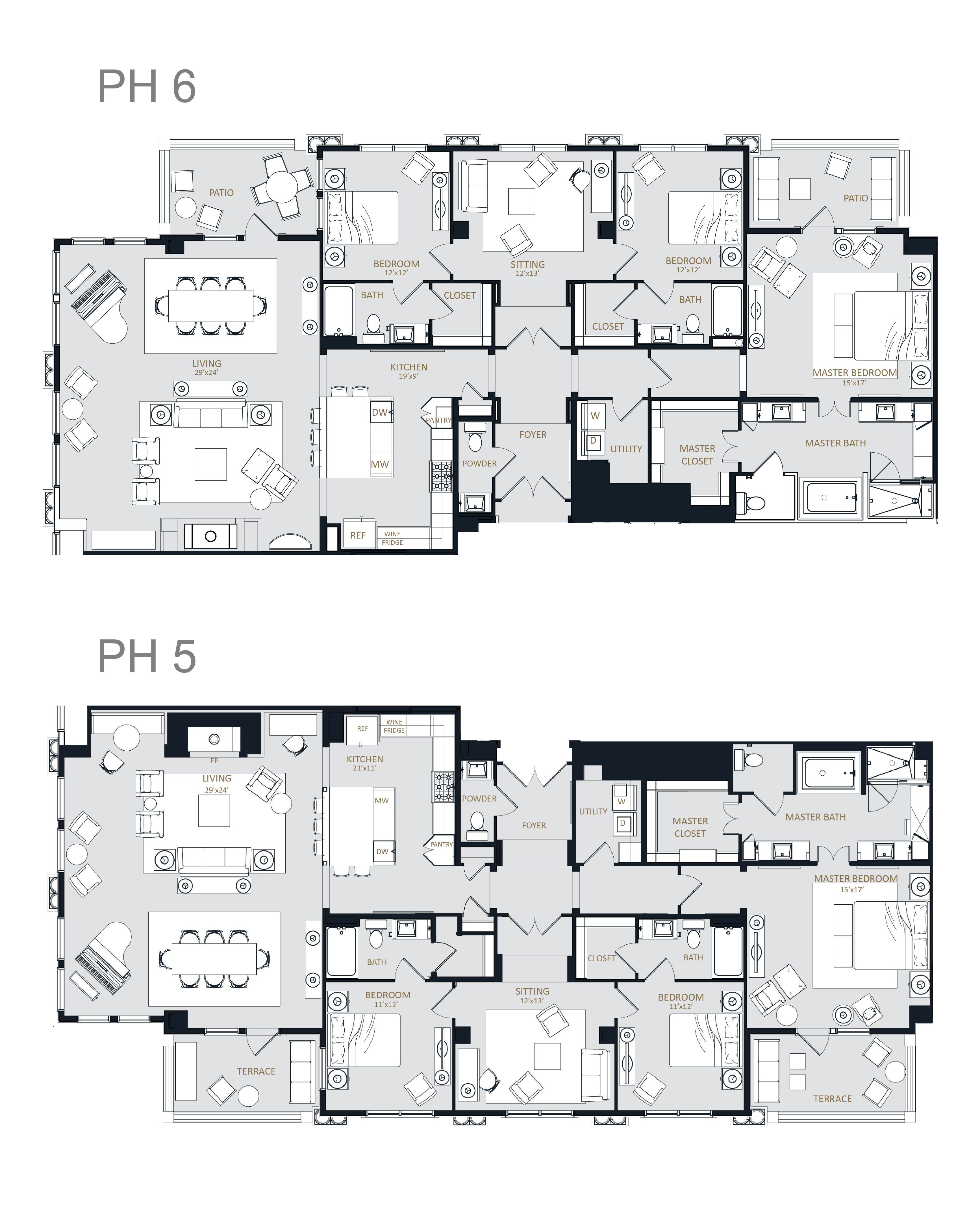 The Mckenzie Luxury Apartments Dallas High Rise Apartment Homes For Lease In Knox Henderson Floor Plans Apartment Floor Plans Condo Floor Plans