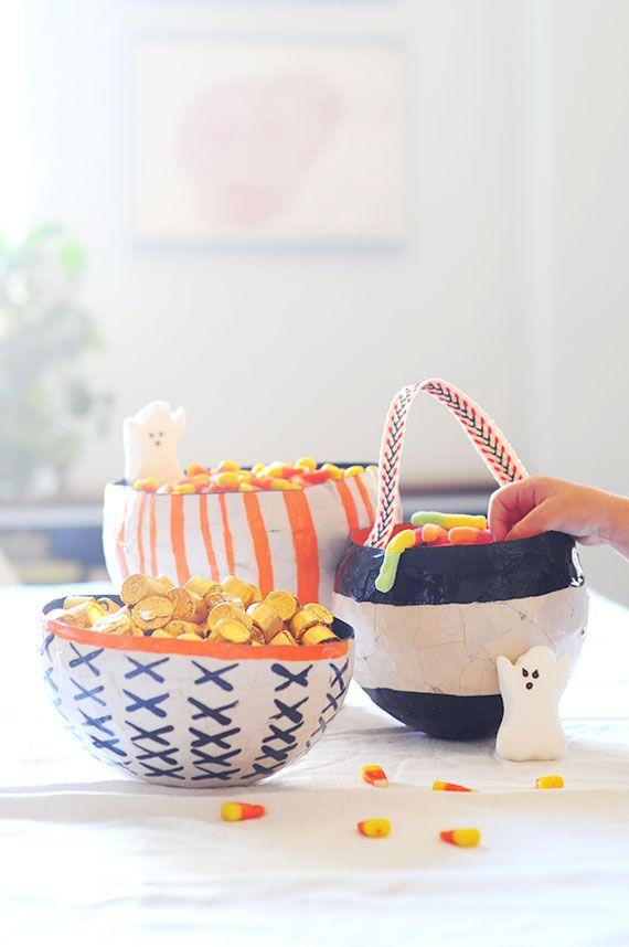 Make Paper Mache Candy Bowls Halloween Pinterest Candy Bowl