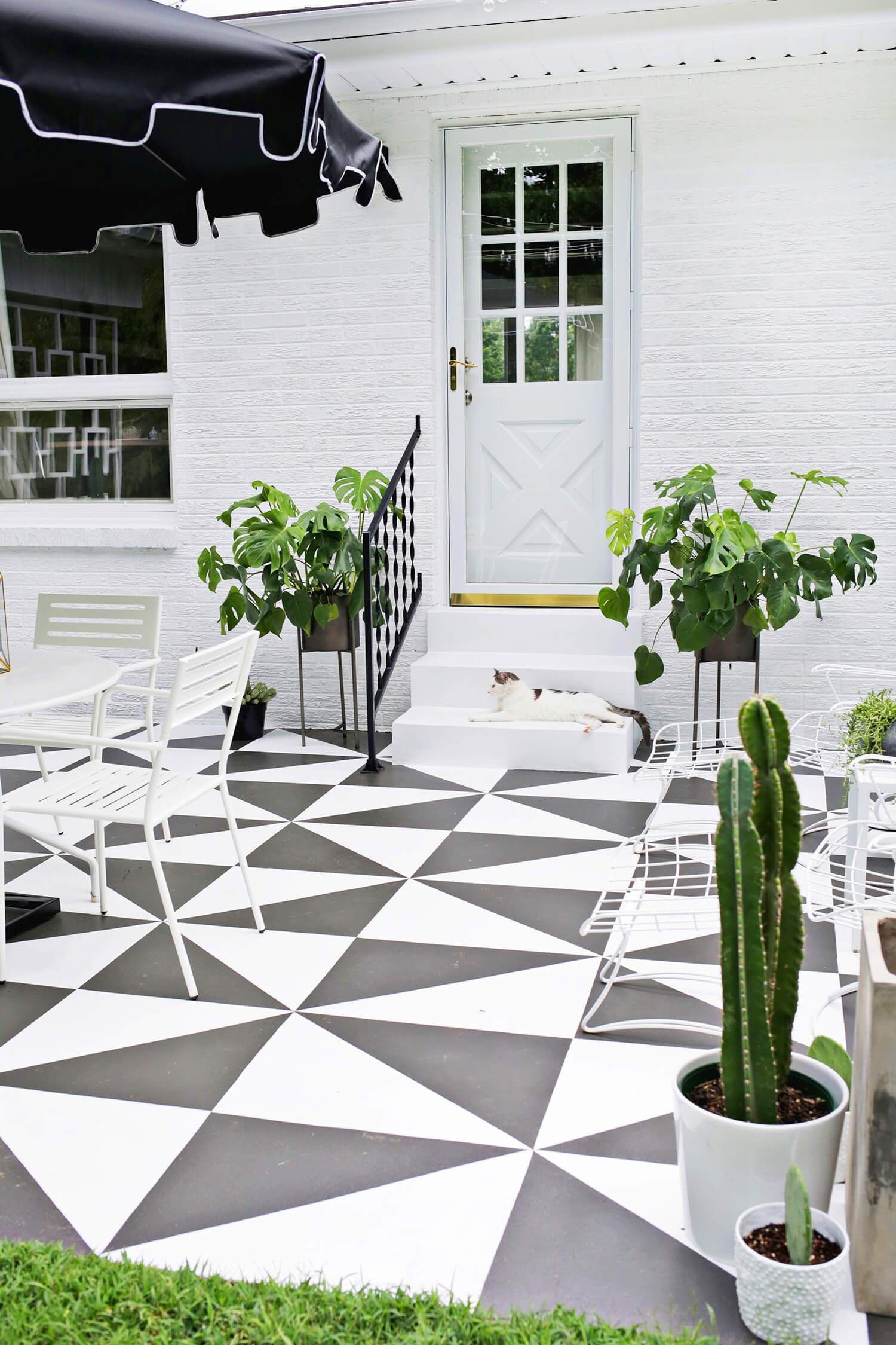 Diy pinta el suelo de tu terraza pintar cemento - Decoracion exteriores terrazas ...