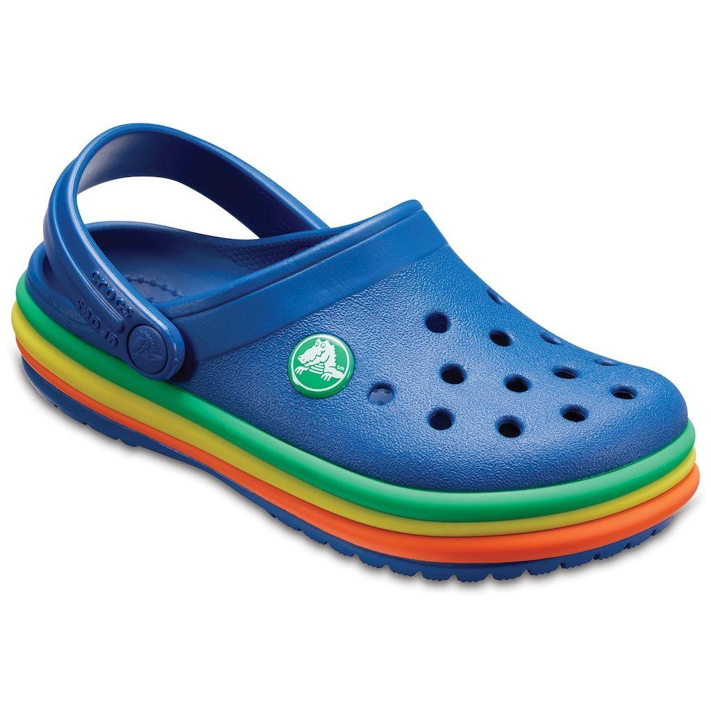 3a4bf0ee5e1a09 Crocs Rainbow Band Kids  Clogs