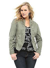 3615d9d89ac3c TORRID.COM - Olive Open-Front Military Jacket