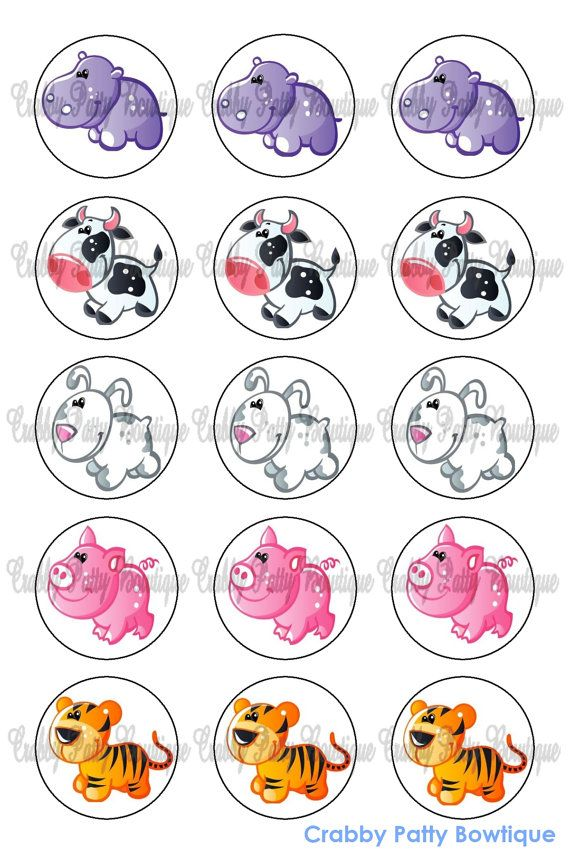 Silly Animals Bottle Cap Images 1 by rmlemay on Etsy, $1.75