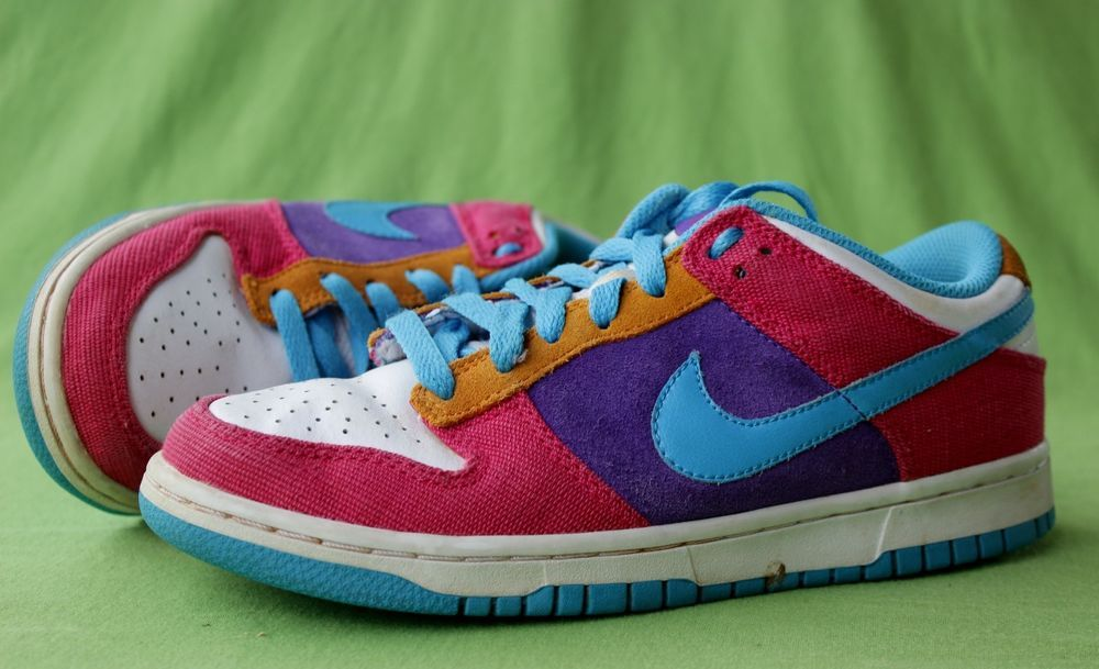 db096ff49d Nike Dunk Low Skate Shoes Skateboard Sneakers 314141 641 Womens 7.5 Pink  Purple #Nike #Sneakers