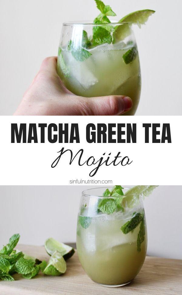 Matcha Green Tea Mojito Sinful Nutrition Recipe In 2020 Refreshing Drinks Recipes Fresh Drink Recipes Matcha Green Tea