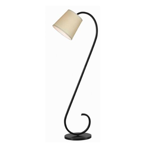 Modern floor lamp with beige cream shade in oil rubbed bronze curvy sexy lines on this floor lamp with beige drum shade kenroy home lighting aloadofball Image collections