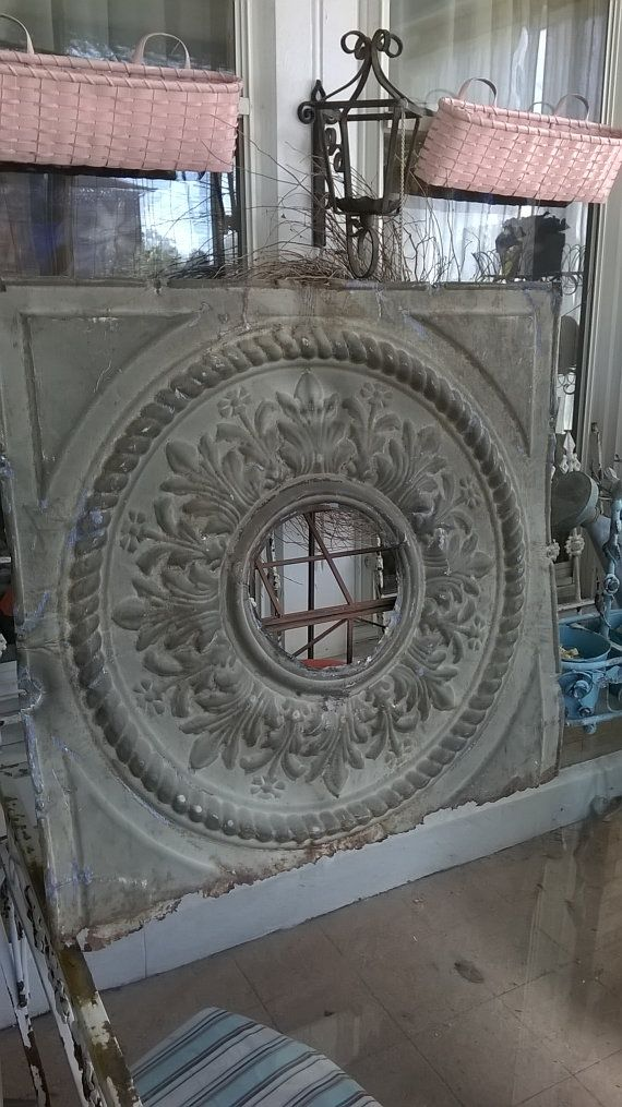 Metal Ceiling Medallion Antique Architectural Salvage Pressed Metal Ceiling Medallion Tin