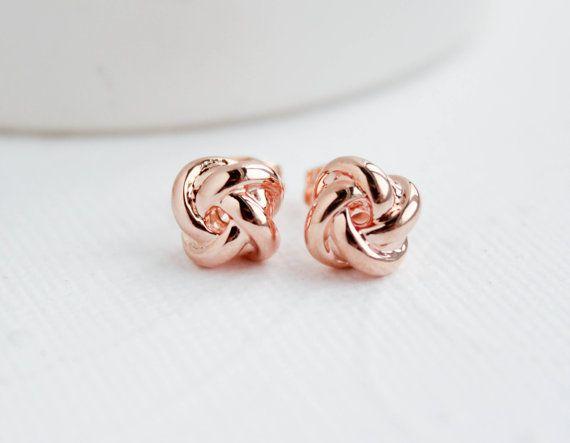 small earrings Rose quartz stud earrings rose quartz earrings Earrings for teens pin stone earrings small studs gift 4 her under 20