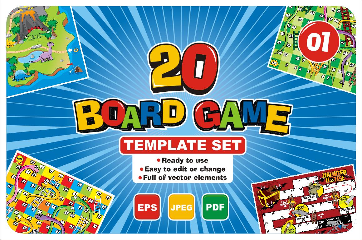 20 Boardgame Template Set (Gráfico) por azkaryzki