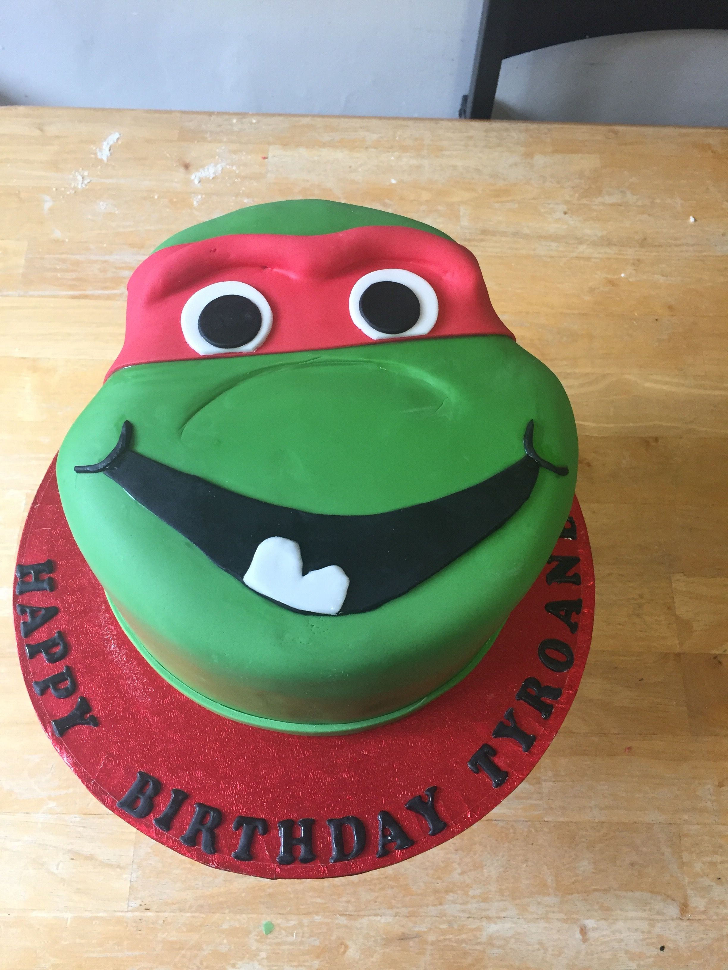 Raphael ninja turtles cake made for a very happy 3 year old made by