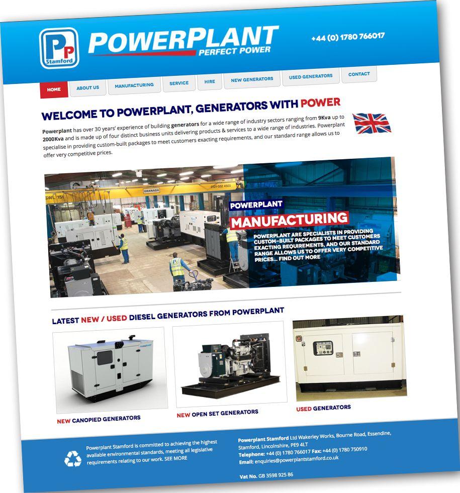 Powerplant website #website #generators #webdesign #graphicdesign ...