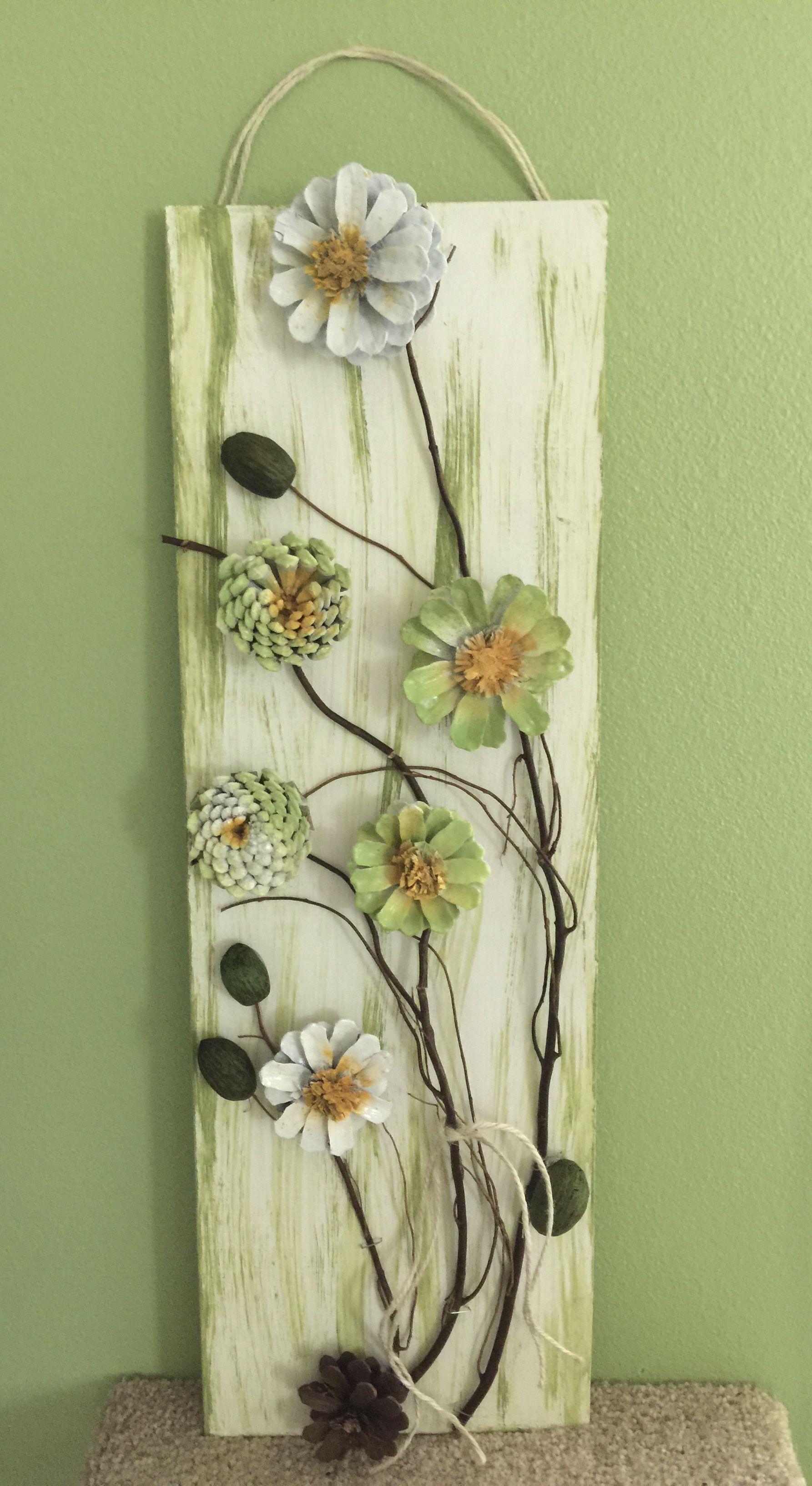 #pineconeflowers