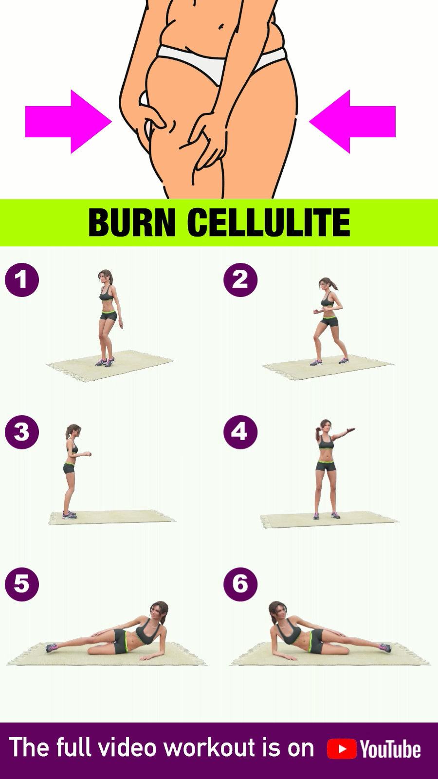 Burn Cellulite: Drastically Reduce Leg Fat With Home Exercises