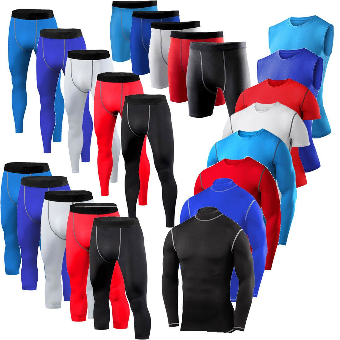 Men/'s Compression Sets Running Basketball Tops Sport Outfits Base Layers Dri-fit