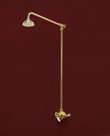 Tradition Brass exposed thermostatic shower valve, 5inch fixed head ...