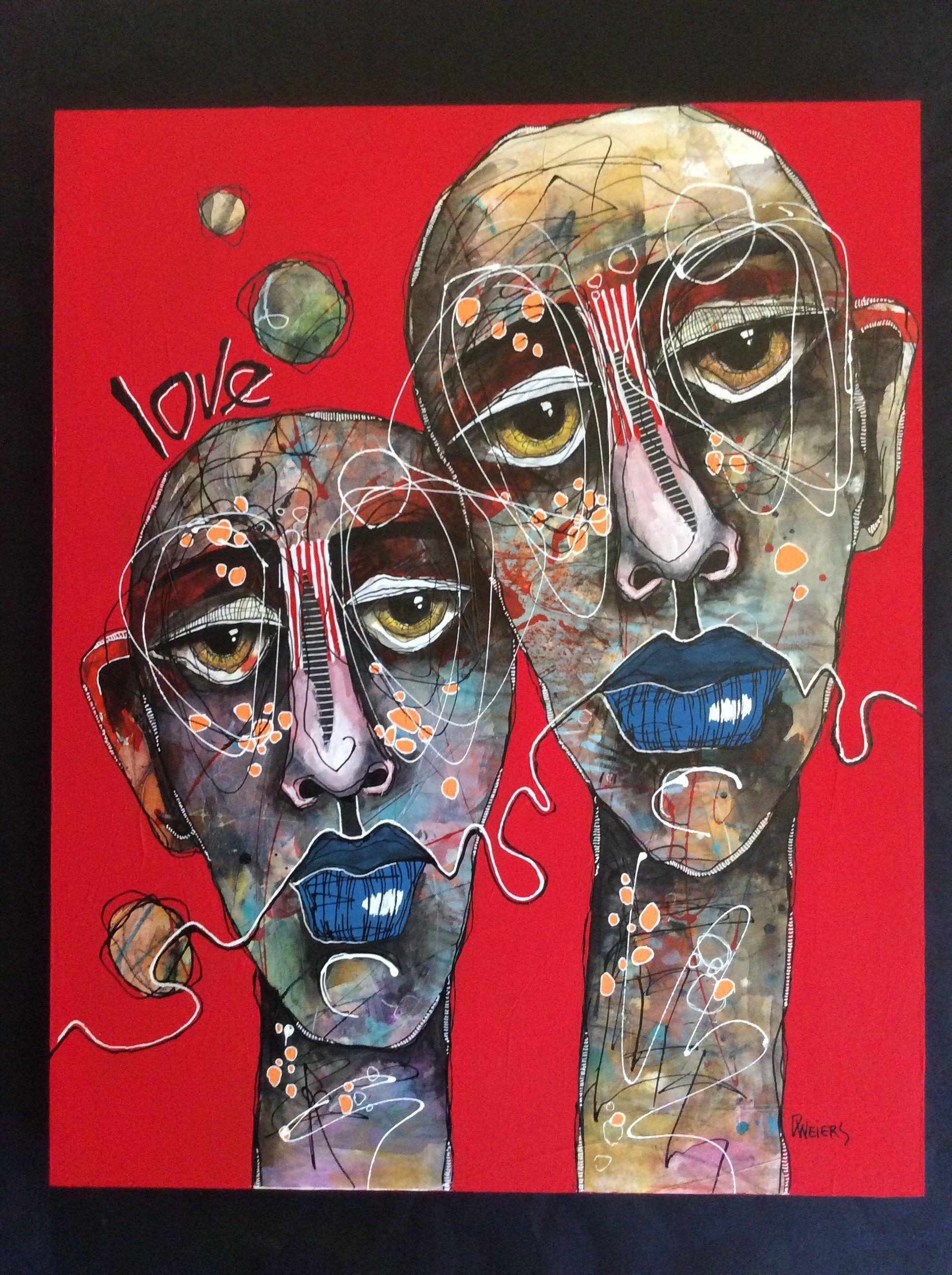 Sold love people 16x20x1 12 whimsical art art