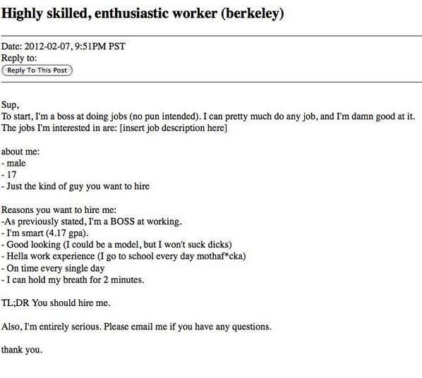 Craigslist Resumes Craigslist Resume Funny  I'm Literally Dying  Pinterest