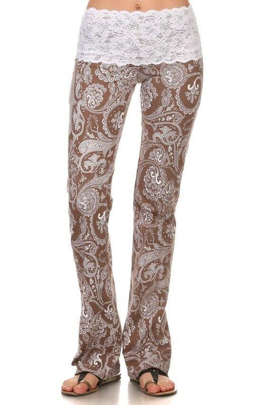 Paisley Lace Yoga Pant