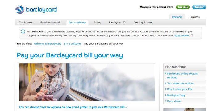 barclay card bill pay  paying bills business credit