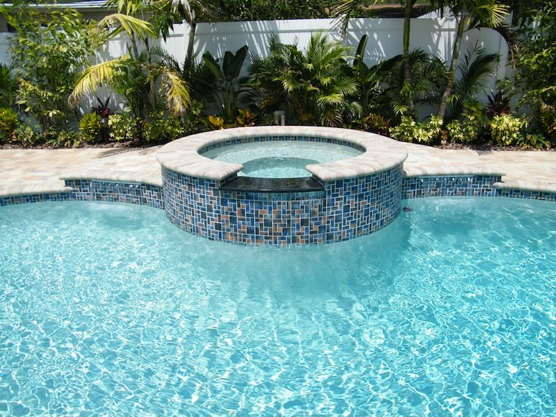 Spa Spillway Flush With Pool