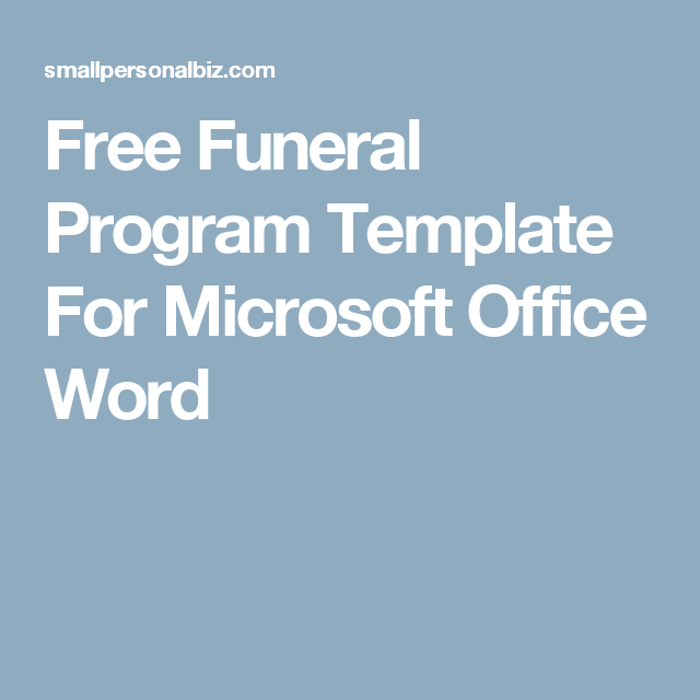 free funeral program template for microsoft office word bigs 90