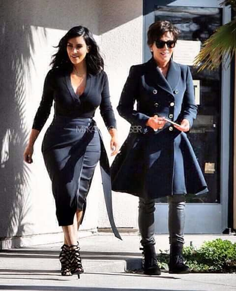 Kim and mother