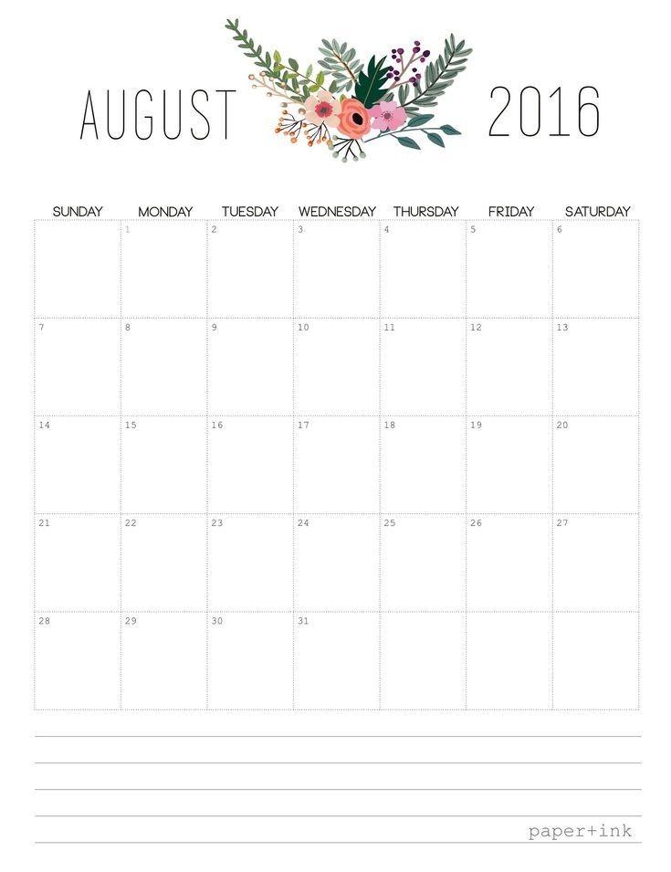 Pretty Printable Calendar 2020
