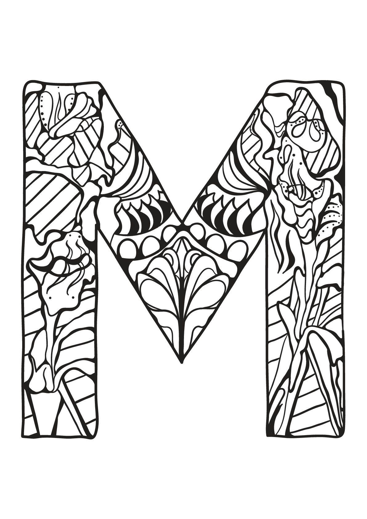 Alphabet lettre m - Alphabet lettre m. A partir de la galerie