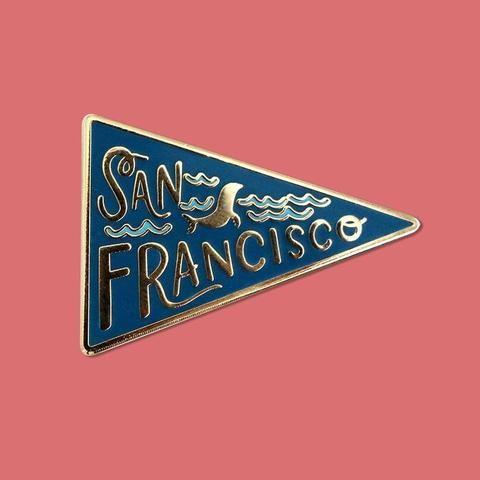 'San Francisco Pennant' Pin