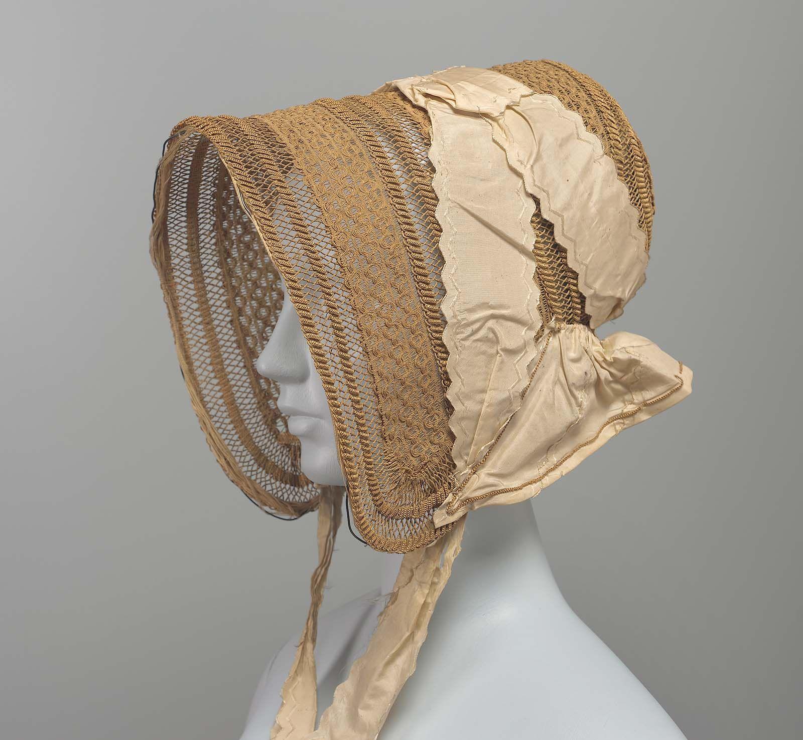 Straw bonnet, American (?), Ca 1840s. Museum of Fine Arts, nr. 44.207