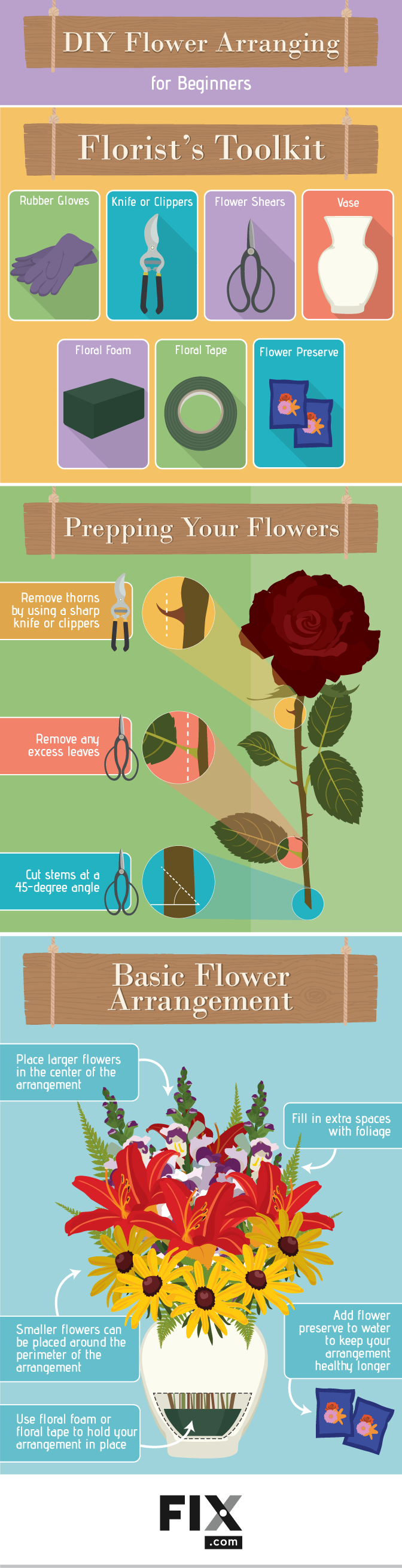 Flower Arranging for Beginners #infographic