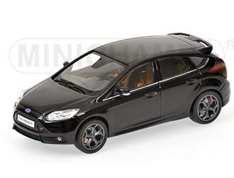 This Ford Focus St 2011 Diecast Model Car Is Metallic Black And