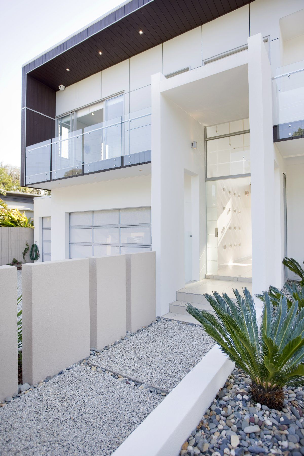 Entrances, stairs, architecture, facades, curb appeal, white, modern ...
