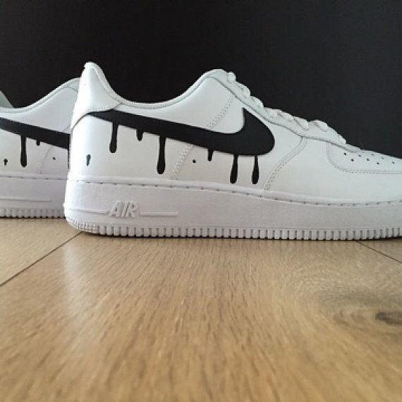 Famous Dripping Swoosh Air Force 1s by ForeverFootwear on