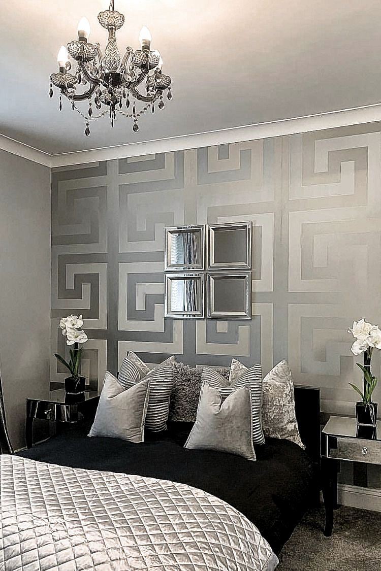 Versace Large Greek Key Wallpaper Silver in 2020 (With