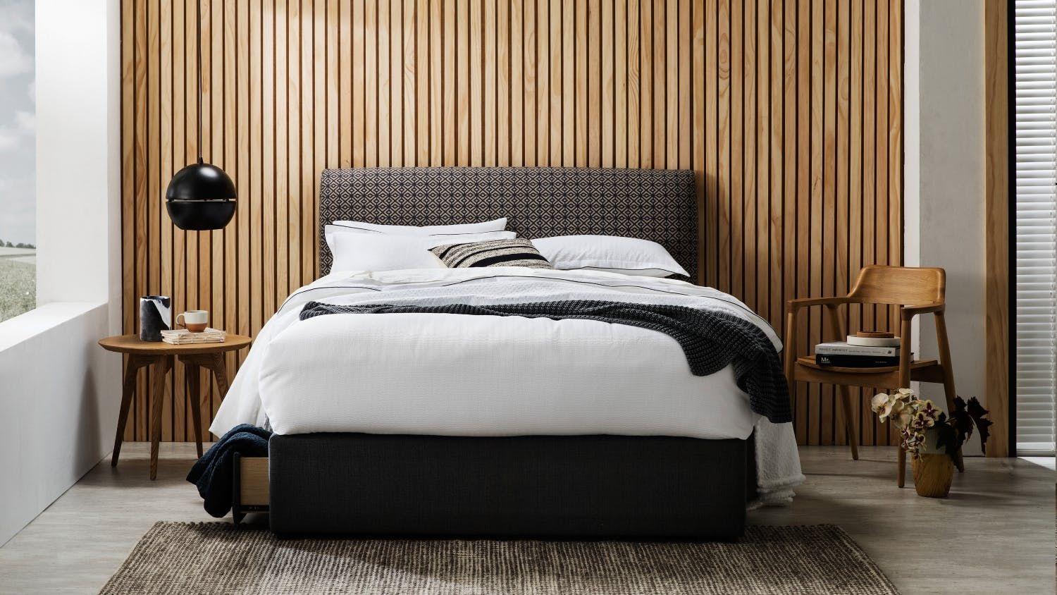 Home Bedroom Beds Bedheads Bolton Fabric Bedhead Modern Bedroom Design Modern Bedroom Timber Bedhead