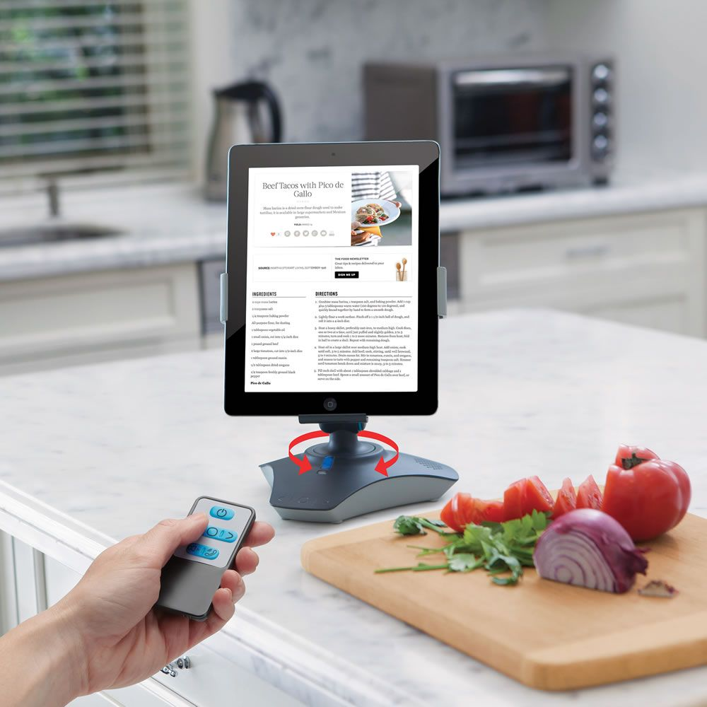 The rc rotating ipad viewing stand hammacher schlemmer my