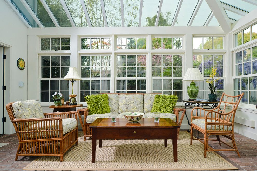 surprising glass ceiling decorating ideas for artistic sunroom traditional design ideas with cane patio furniture covered - Sunroom Patio Designs