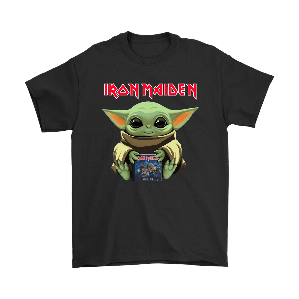 Baby Yoda Hugs Iron Maiden Album Star Wars Shirts